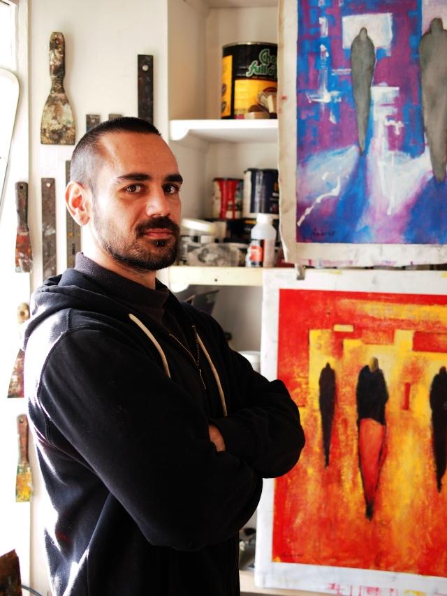 Eduardo Anievas in his studio