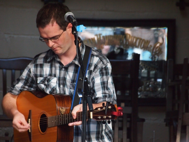 Anthony Mulcahy at the Big City Folk Festival at LIC Bar in July 2012