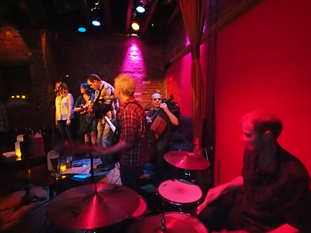Anthony Mulcahy and his band at Rockwood Music Hall